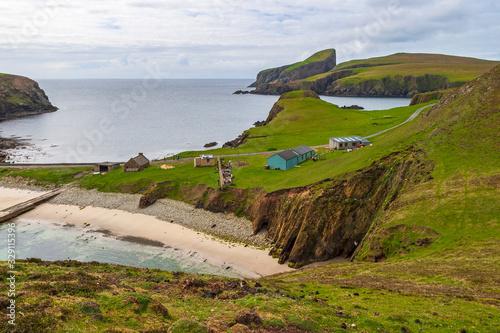 Fair isle in the atlantic ocean Fotobehang