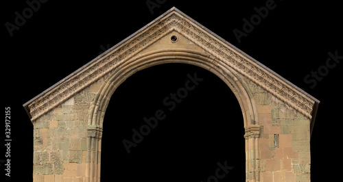 Fotografie, Obraz Elements of architectural decorations of buildings, doorways and arches, plaster moldings, plaster patterns