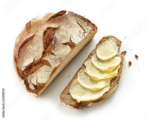 Fotografía slice of bread with butter