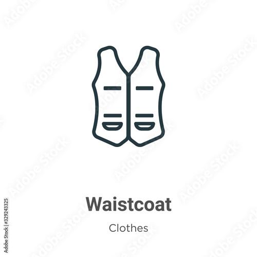 Wallpaper Mural Waistcoat outline vector icon
