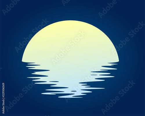 The dawn of the sun in the sea. Fototapeta
