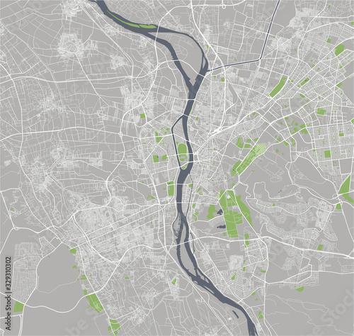 Fotografie, Obraz map of the city of Cairo, Giza, Egypt