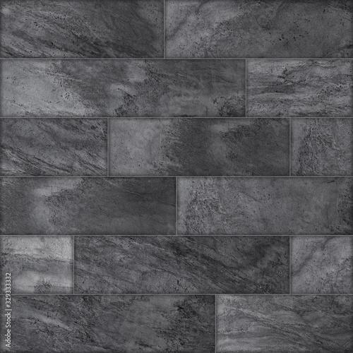 Obraz na płótnie z kamiennym murem z ciemnej cegły