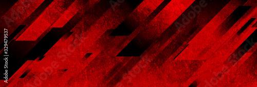 Valokuvatapetti Dark red grunge stripes abstract banner design
