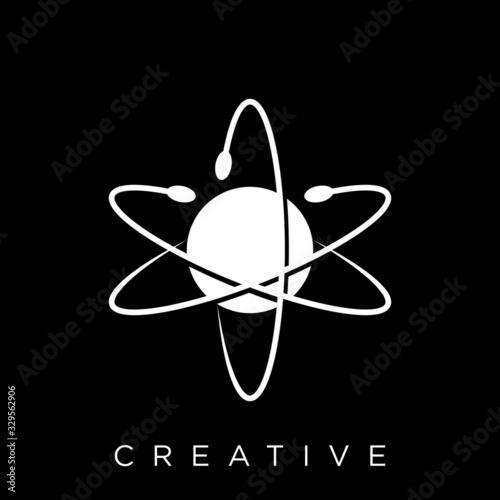 Wallpaper Mural atom icon on internet button