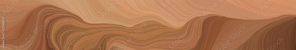 creative banner with pastel brown, dark salmon and chocolate color. modern soft curvy waves background illustration <span>plik: #329888569 | autor: Eigens</span>