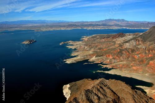 Photo Lake Mead on the border of Arizona and Nevada USA North America