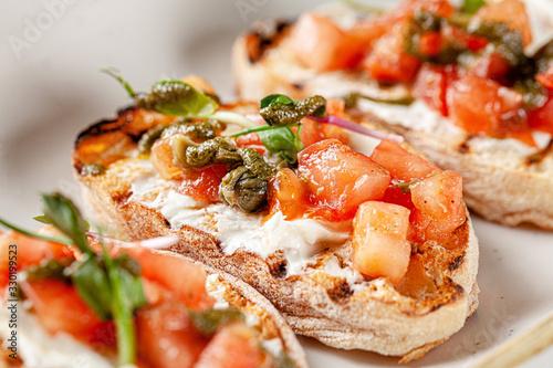 Italian cuisine, antipasti and tapas Fototapeta