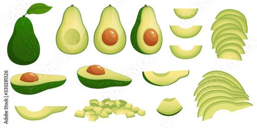 Foto Cartoon avocado