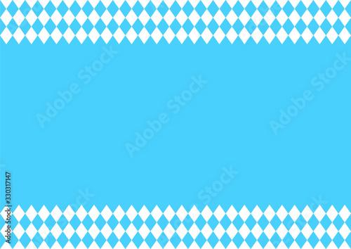 Oktoberfest background with blue-white checkered pattern, banner Tapéta, Fotótapéta