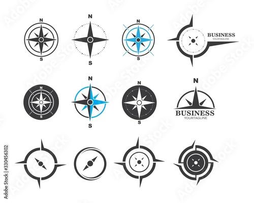 Fotografie, Obraz compass logo vector tempate ilustration