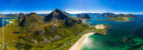 Stampa su Tela Beach Lofoten archipelago islands beach
