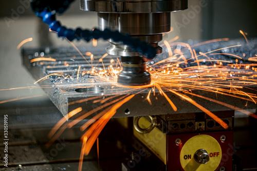 Canvas-taulu Metalworking CNC lathe milling machine