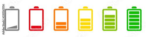 Fotomural Battery icons set