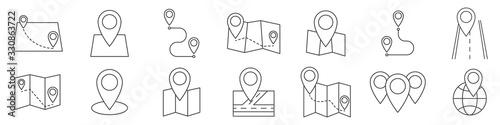 Fotografie, Obraz Map icon. Location icon. GPS. Vector illustration.