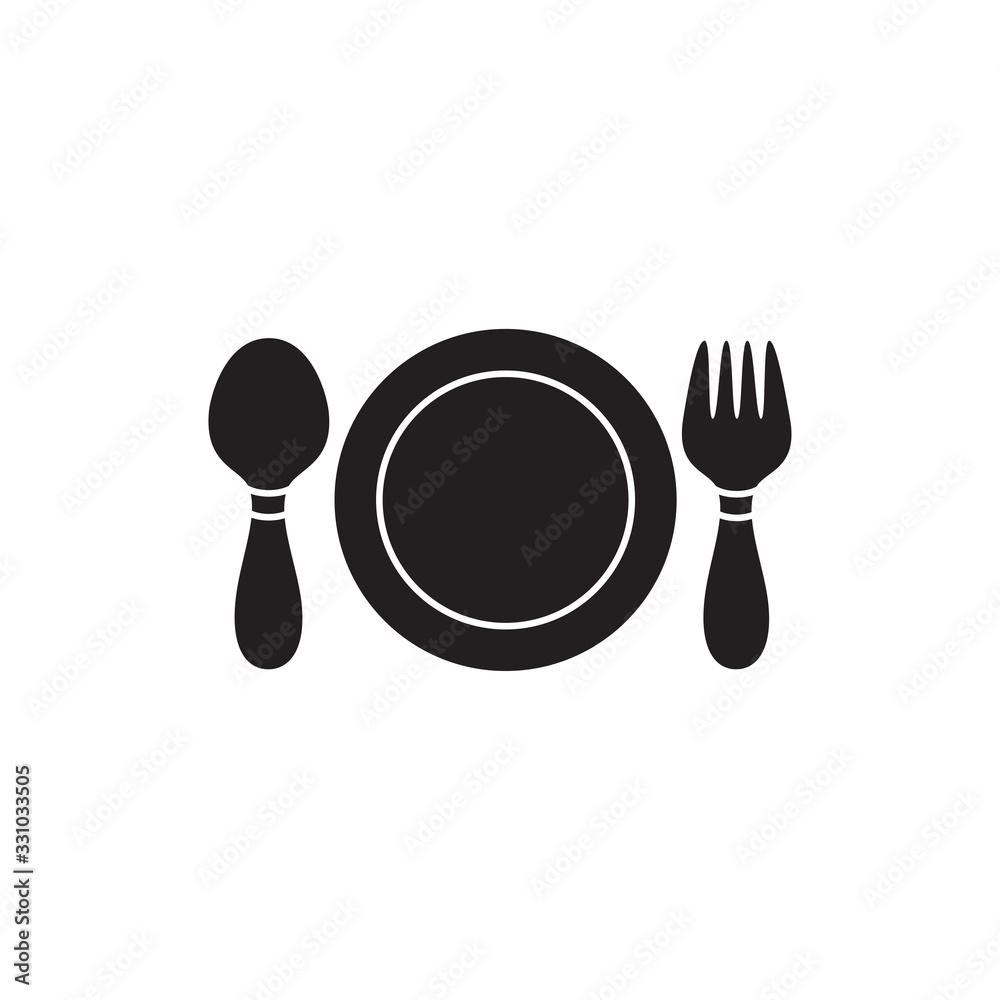 restaurant icon vector logo template <span>plik: #331033505   autor: pambudi</span>