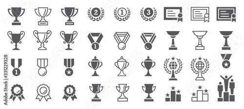 Obraz na plátně Set of Winning Vector Icons