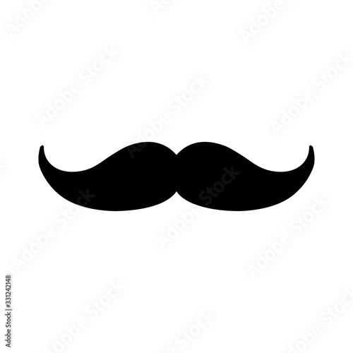 Wallpaper Mural Vector mustache icon background