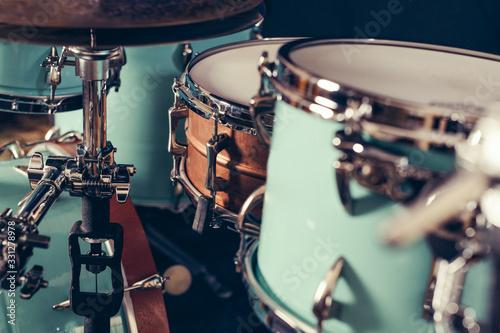 Fotografering Detail of a drum kit closeup