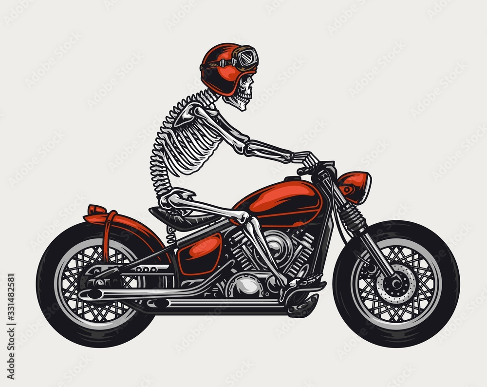 Colorful motorcycle vintage concept <span>plik: #331482581   autor: DGIM studio</span>