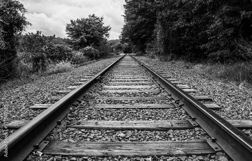 Canvas Print railroad tracks