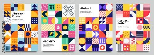 Obraz na plátne Colorful neo geometric poster