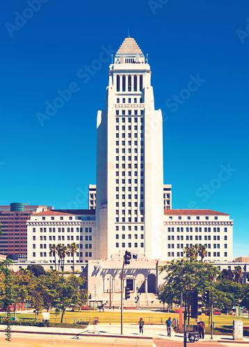 Fotografia Los Angeles city hall building in Downtown LA