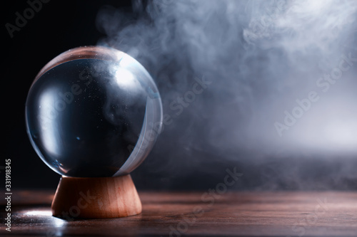 Murais de parede Crystal ball to predict the fate. Guessing for the future.