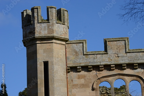 Fototapeta Details of facade of Crawford Priory, Cupar, Fife, built early 18th century