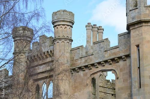 Details of facade of Crawford Priory, Cupar, Fife, built early 18th century Tapéta, Fotótapéta