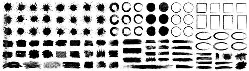 Obraz na płótnie Set different splash, collection brush strokes – for stock
