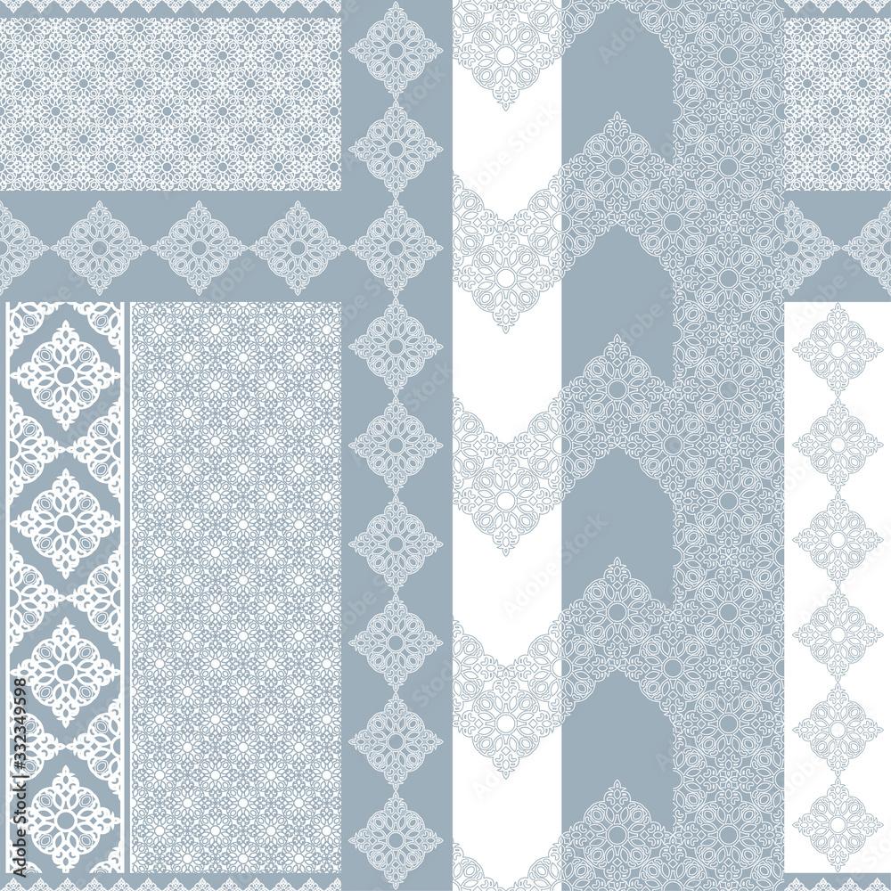 Seamless oriental pattern. Design element in Eastern style. Geometric ornament. Luxury element in Eastern style. Decoration for wallpaper, background, web page. Arabic motifs. <span>plik: #332349598 | autor: sam2211</span>