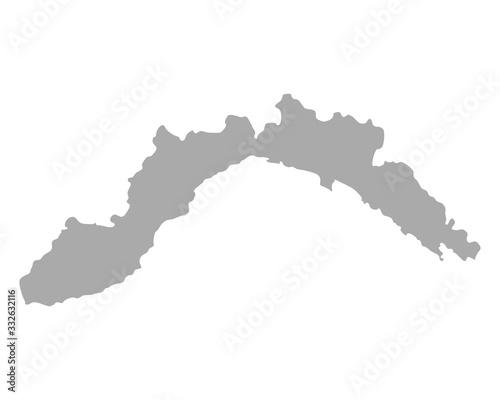 Fotografia Karte von Ligurien