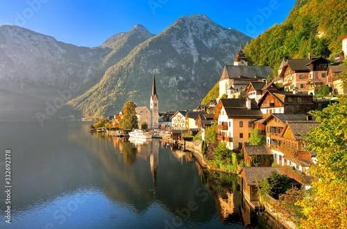 Fototapeta village in the alps