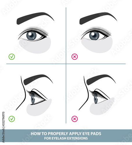 How to Apply Under Eye Patches and Protection Pads for Eyelash Extensions Properly Fototapeta