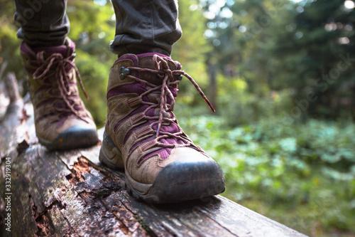 a hiking boots Fototapet
