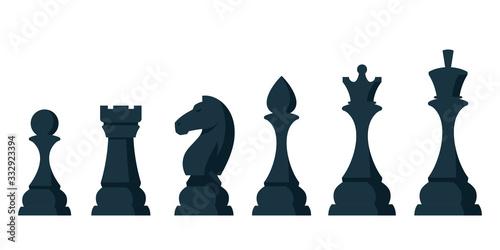 Fototapeta Set of chess pieces
