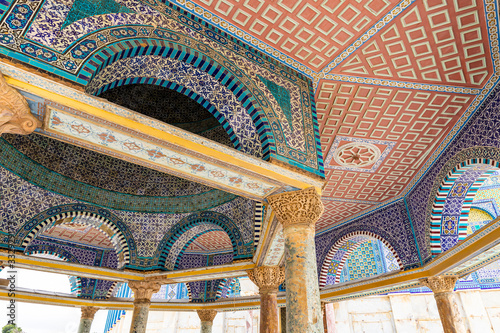 The Dome of the Chain near the Dome of the Rock mosque on the Temple Mount in th Fototapet