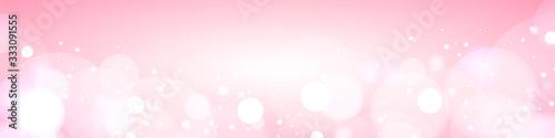 Murais de parede 桜 春 背景素材 ピンク 舞う 花吹雪 玉ボケ バナー ヘッダー 広告 パンフレット