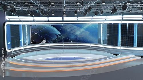 Cuadros en Lienzo Virtual TV Studio News Set 7