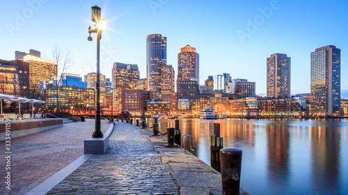 Fotografía Boston Harbor and Financial District