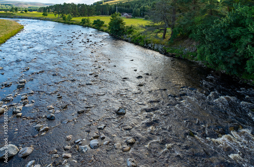 View from the Findhorn Bridge at Tomatin Fototapet