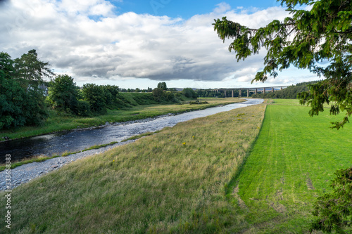 Fototapeta View from the Findhorn Bridge at Tomatin