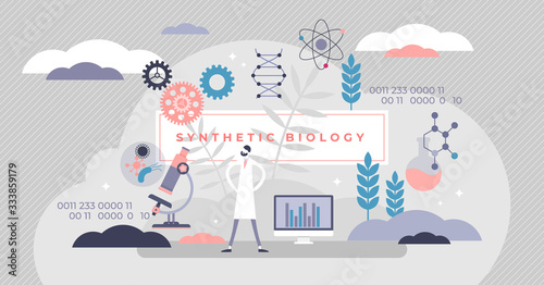 Canvas Print Synthetic biology vector illustration