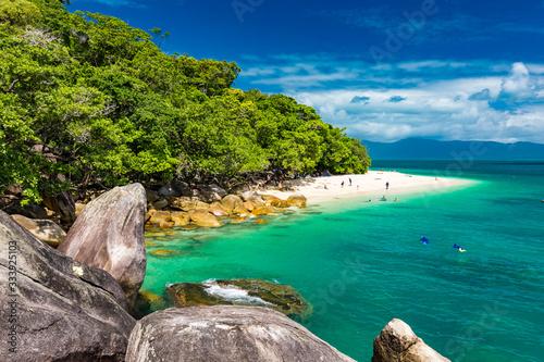 Wallpaper Mural Nudey Beach on Fitzroy Island, Cairns, Queensland, Australia, Great Barrier Reef