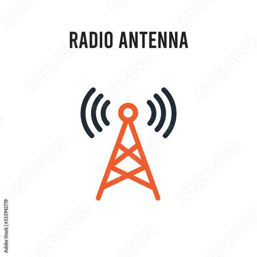 Radio antenna vector icon on white background Fototapet