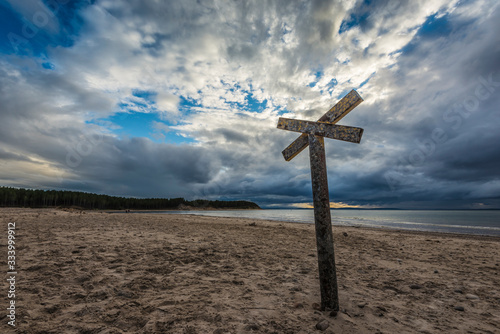 Fotografie, Obraz Beach near Findhorn in the scottish highlands.
