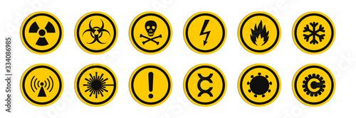 Wallpaper Mural Circular signs of a hazard warnings