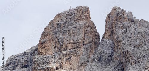 Fotografie, Obraz Furchetta Peak in the Dolomites: Majestic Peak in Puez Odles Naturepark / Garden