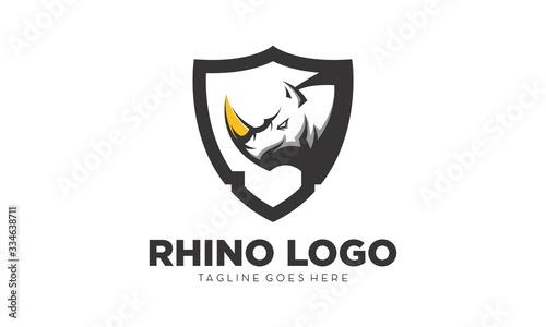 Stampa su Tela Rhino simple vector logo design